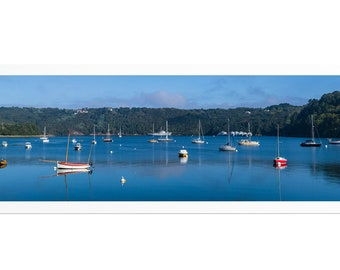 """Panorama """"L'Aulne Maritime"""", Crozon Peninsula, Finistère, Brittany, Fine Art Drawing signed and numbered. FAG0465"""