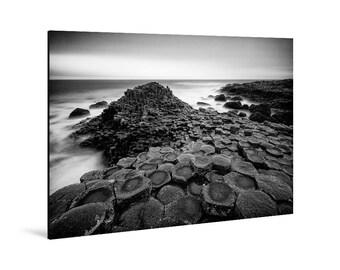 Art print laminated on Alu-Dibond, Giant's Causeway, Northern Ireland. FAG0529