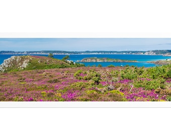 """Panorama """"La Pointe du Guern"""", Crozon Peninsula, Finistère, Brittany, Fine Art Drawing signed and numbered. FAG0466"""
