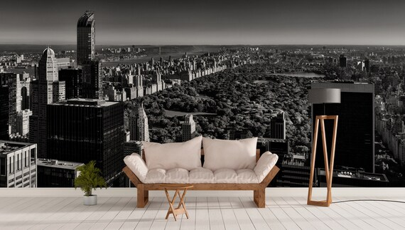 Central Park Impression Grand Format Sur Vinyle Adhesif Etsy