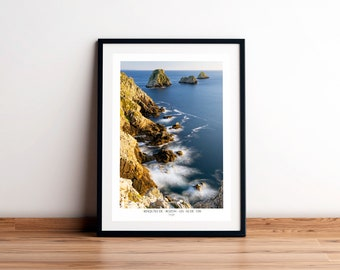 Shows THE TAS of POIS, Crozon Peninsula, Finistère, Brittany. Printed on satin paper 250 g/m2. FAG0123