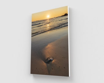 Sunset in Lostmarc'h, Crozon Peninsula, Finistère, Brittany, canvas printed and mounted on frame. FAG0478