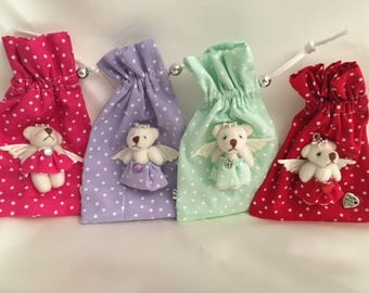 Scented pouch decoration with teddy