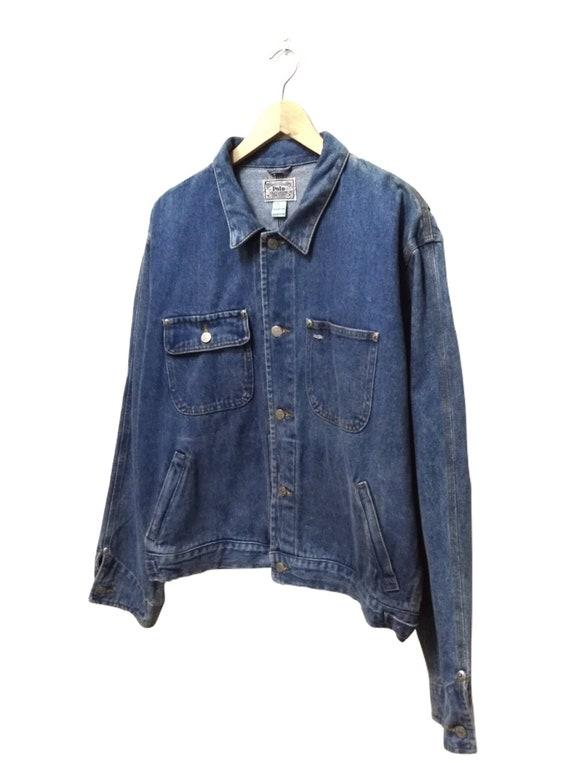 Large Jacket Hop 90s Swag Denim Vintage POLO LAUREN Sale Hip Rare Skate Hot Size RALPH Bq8xZvOHBw