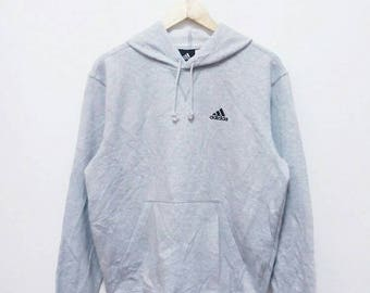 Hot Sale!!! Rare Vintage 90s ADIDAS Embroidery Logo Pullover Hoodie Sweatshirt Hip Hop Skate Swag Small Size