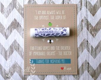 Thank you card - {Customizable Homemade Thank You Card with Organic Beeswax Lip Balm}