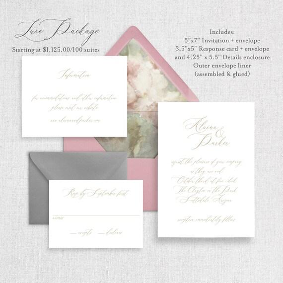 Watercolor Wedding Invitation \u2013 Dusty Rose