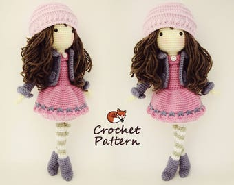 amigurumi crochet patterns free download - Salvabrani | Muñeca ... | 270x340