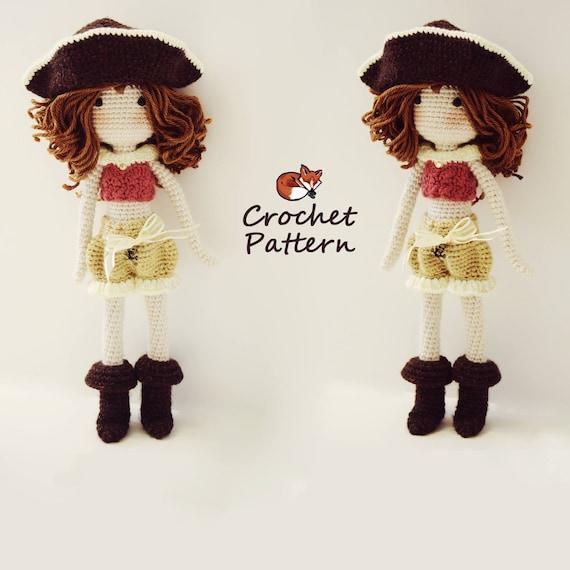 Amigurumi Pattern  Crochet Doll Pattern  Photo Tutorial  Instant Download