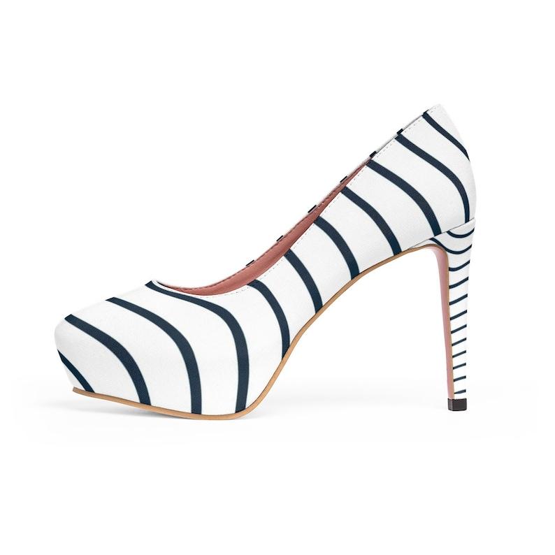 Blue Waves WomenS Platform Heels