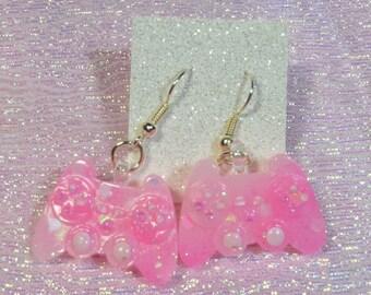 Glitter Controller Earrings