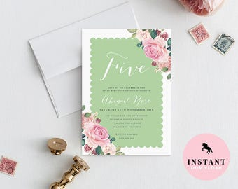 garden party invite etsy