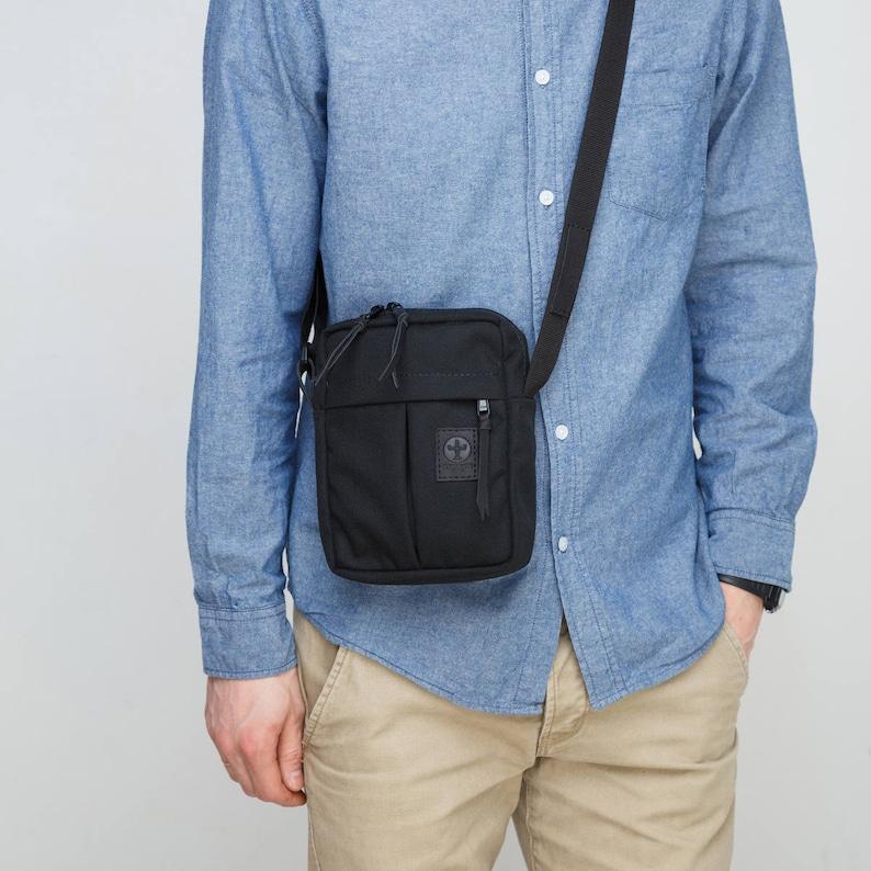 f20a63c27818 Black Shoulder Bag   Black Small Messenger Bag   Travel Bag