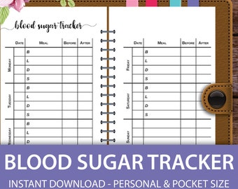 blood sugar tracker blood pressure blood glucose log blood etsy