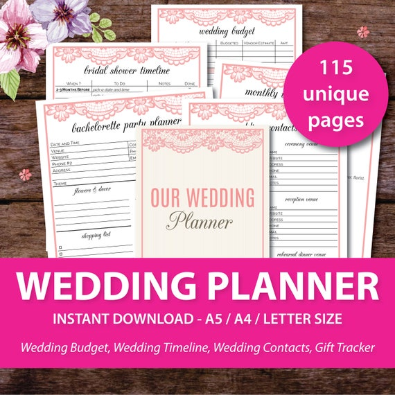 image about Printable Wedding Budget Checklist identify Wedding ceremony Planner, Printable Wedding day Planner, Marriage ceremony Spending plan, Wedding day Package deal, Marriage ceremony Record, Marriage ceremony Timeline Template, Bridal Planner