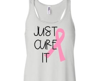 Just Cure It Cancer Awareness Womens Tee