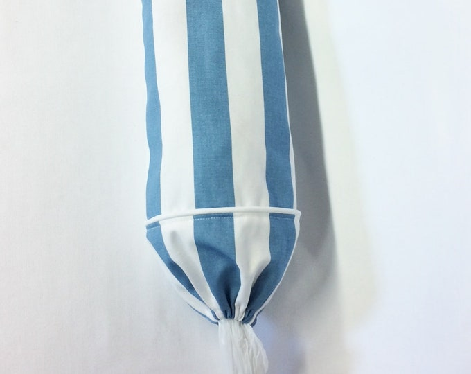 Plastic Bag Holder, Nautical Decor, Gift for Mom, Housewarming Gift, Kitchen Decor, New Home Gift, Grocery Bag Holder, Blue, Stripes, White,