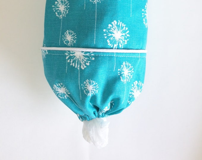 Plastic Bag Holder, Grocery Bag Holder, Fabric, Bag Holder, Turquoise,  Grocery Bag Dispenser, Fabric Bag Holder, GiftsandHomeDecorUS,