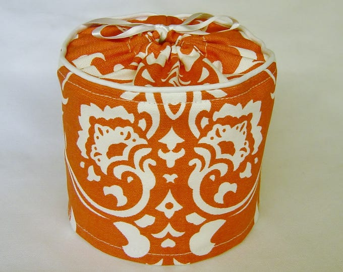 Toilet Paper Storage, Rustic Bathroom Accessory, Toilet Paper Cover, Bathroom Decor, Farmhouse, Coral,  Traditional Bathroom Decor,