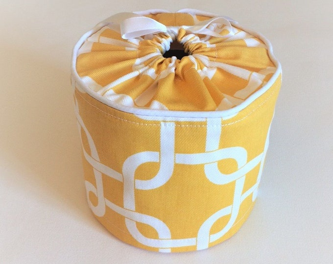 Yellow Toilet Paper Cover, Toilet Roll Cover, Toilet Paper Storage,