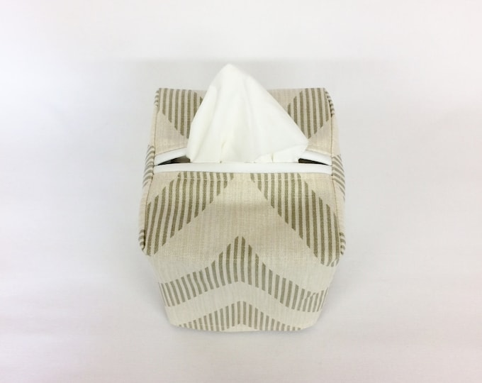 Fabric Tissue Box Cover Square, Tissue Box Holder, Housewarming Gift, Back to School Teacher Gift, Living Room Decor,