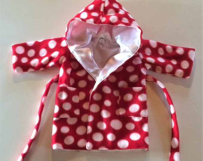 Red Hood Baby Bath Robe, Baby Girl Clothes, Newborn Boy, Baby Robe with Hood, Baby Shower Gift, Baby Clothes, Newborn, Hood,