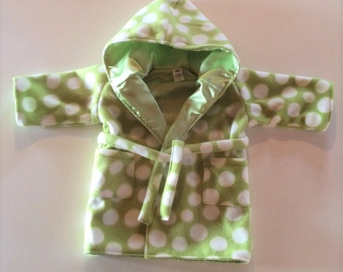Infant Robe, Baby Bath Robe, Baby Bathrobe, Baby Shower Gift, Baby Gift, Baby Clothes, Green, Hooded Bath robe, New Baby, Girl, Boy,