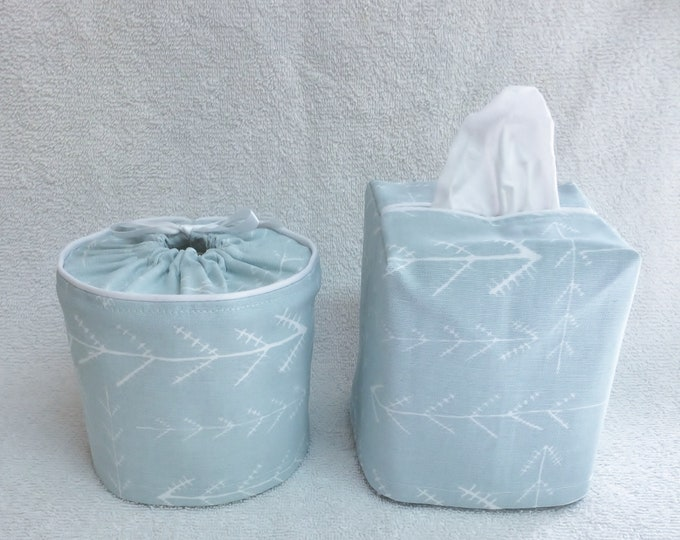 Bathroom Set, Toilet Paper Cover, Tissue Box Cover,
