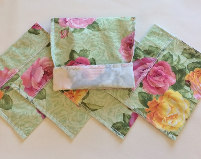 Sandwich Bags, Snack Bag, Reusable Sandwich Bag, Zero Waste, Eco Friendly, Reusable Snack Bag, Gift for Kids, Back to School, Roses, Floral,