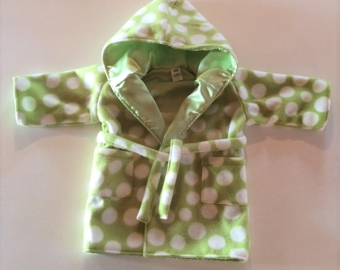 Baby Shower Gift, Baby Gift, Baby Clothes,  Newborn, Baby Robe, Green, Bath Robe, Hood, Hooded Bathrobe, New Baby, Girl, Boy, Infant,Hood,