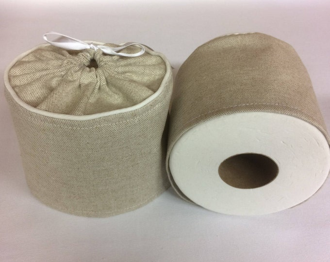 Custom Made, Toilet Paper Cover, Farmhouse Decor, Farmhouse, Rustic, Burlap, Bathroom Decor, Brown, Custom Order, Country, Burlap Decor,
