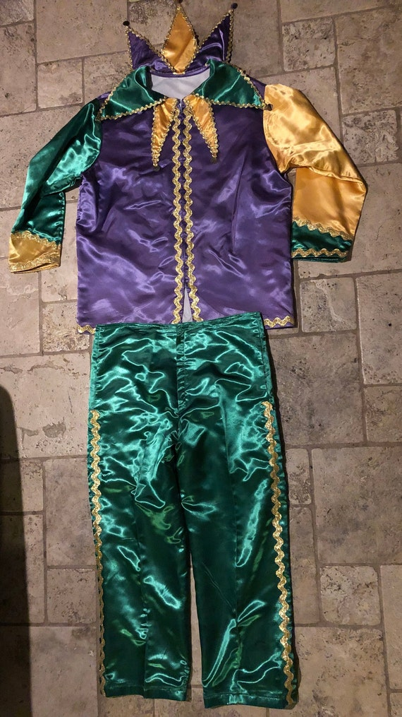 Mardi Gras Jester Costume Mens Large Cosplay
