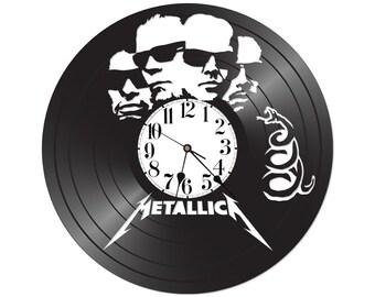 Metallica Vinyl Wall Clock Music Bands Musicians Themed Retro Home Bedroom Decor