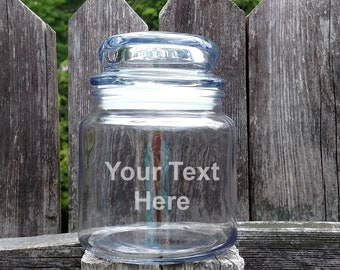 Holds 26 oz Personalized Worlds Greatest Teacher Treat Glass Jar Dishwasher Safe