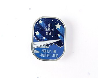 the darkest night enamel pin