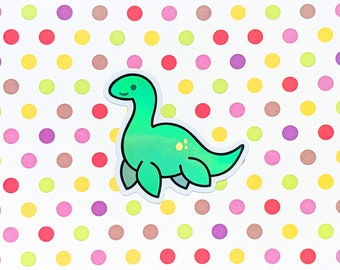 """3"""" Plesiosaurus holographic vinyl sticker for laptops, cars, bumpers, mugs, tumblers and more!"""