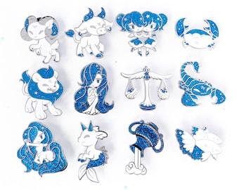 greek zodiac little helpers vol. 2 hard enamel pins