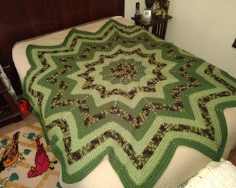 12-Point Star Afghan