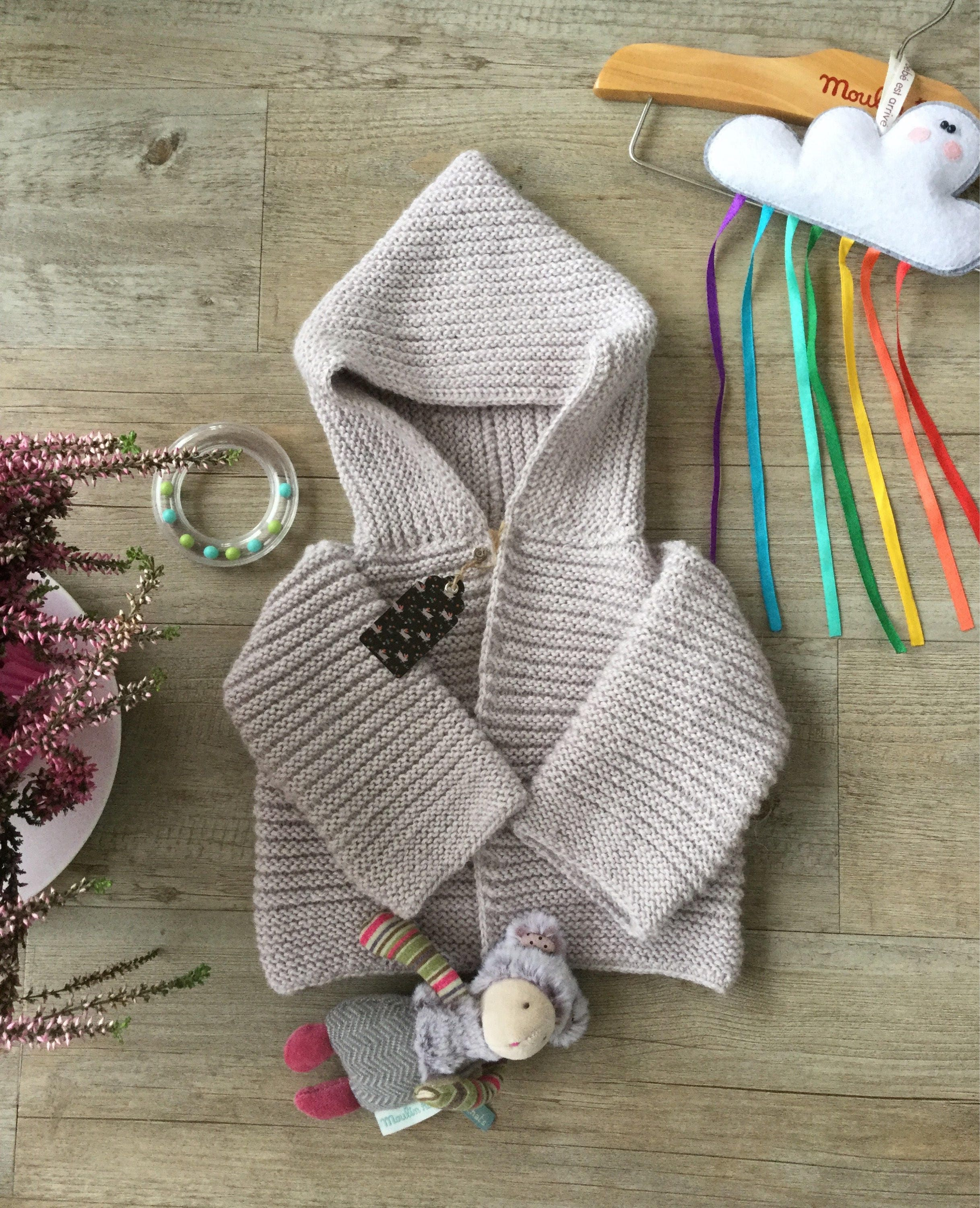 082c12d14 Knitted baby jacket. Knitted baby cardigan. Baby alpaca