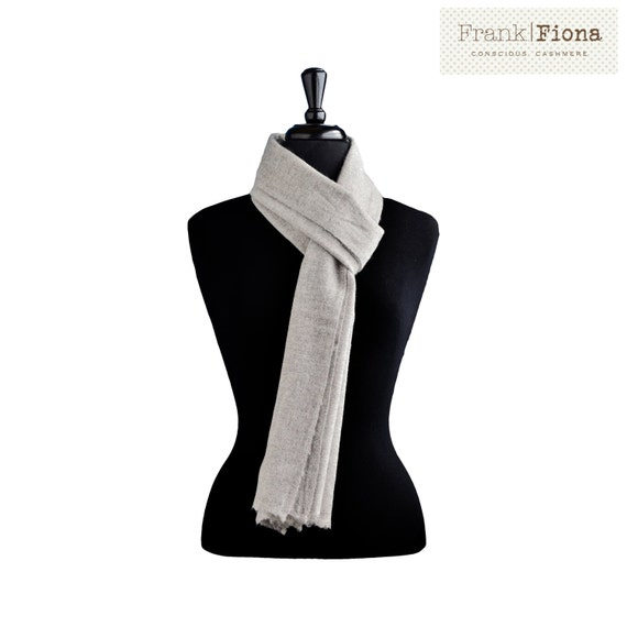 Cashmere scarf vegan clothing knitted scarf pashmina shawl aesthetic clothing natural organic fabric scarf men nepal wool gift for men 6N