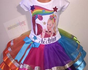 Jojo Siwa Outfit Birthday Tutu Set Shirt