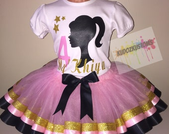 Barbie Birthday Outfit Girl Set