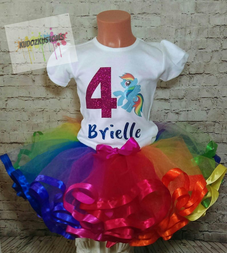 ee3dd61c My Little Pony Birthday Tutu Set My Little Pony Outfit My | Etsy
