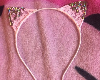 Pink Deco Decora Chocolate Sprinkle Kitty Ears