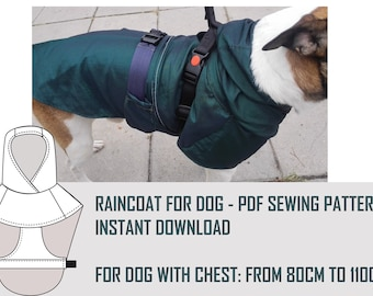 Dog Coat Pattern Etsy