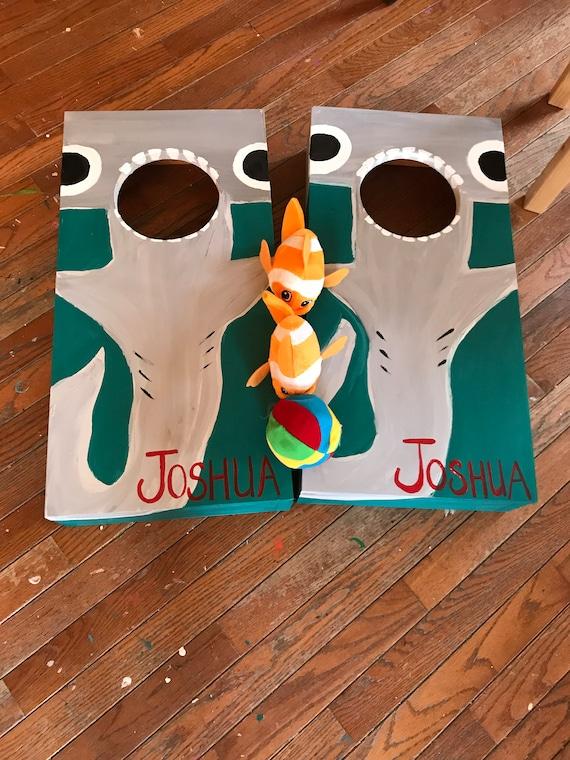 Awe Inspiring Mini Bean Bag Toss Hammerhead Shark Boys Birthday Or Christmas Gift Cornhole Bean Bag Toss Under The Sea Room Decor Lamtechconsult Wood Chair Design Ideas Lamtechconsultcom