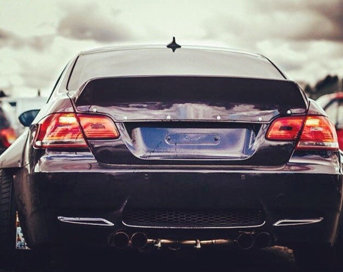 Bmw e92 m3 rear ducktail spoiler lip