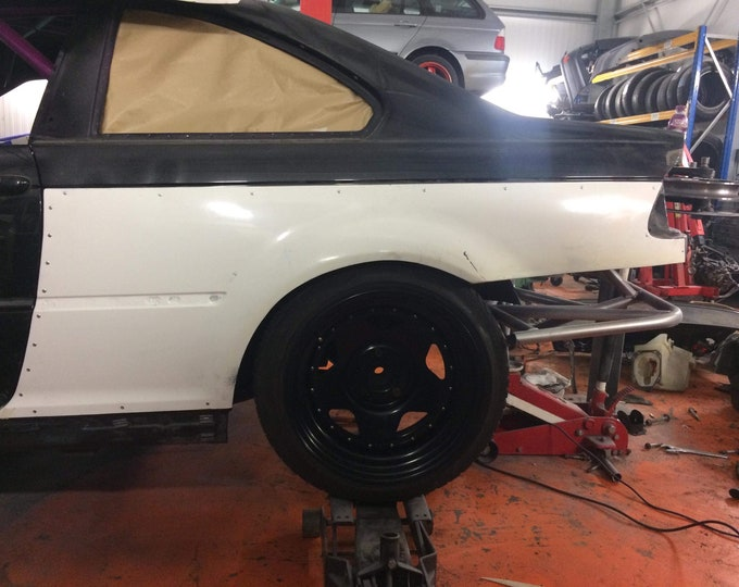 E46 coupe m3 style over fenders rear arches 50mm bmw rocket bunny jdm