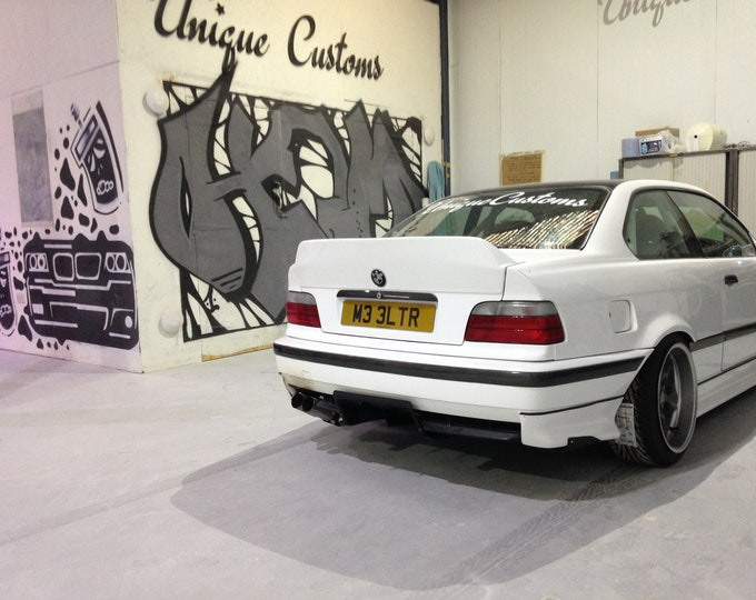 3 series bmw e36 rear ph2 rear ducktail spoiler lip kick m3 msport