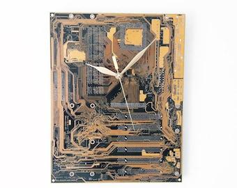 Motherboard clock, Circuit board clock, Computer parts clock, PC Clock, MBO clock